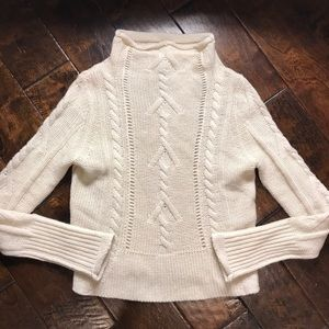 ✨NWT BB Dakota Ivory Funnel Neck Sweater